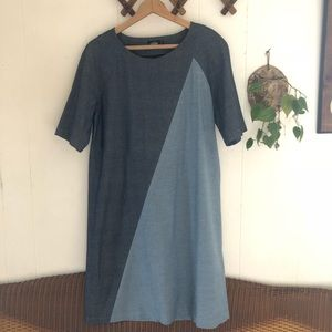 Kate Spade • Saturday Color Block Chambray Dress